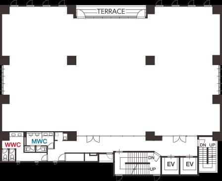 理想のオフィス空間を実現できる自由度の高い広々としたフロア