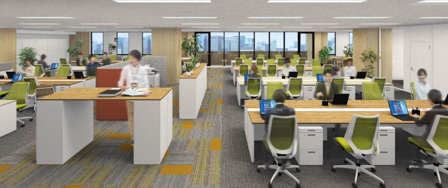 5F 理想のオフィス空間を実現できる自由度の高い広々としたフロア